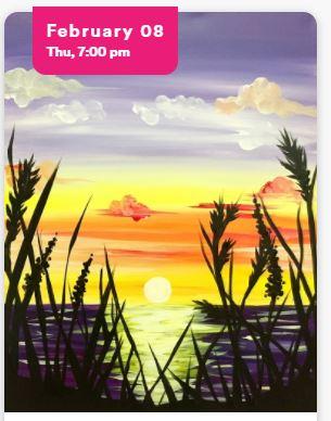 Paint Night - Beach Sunset
